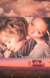 A THOUSAND ACRES original issue rolled double sided 1-sheet movie poster
