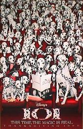 101 DALMATIONS original issue double sided Advance 1-sheet movie poster