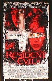 RESIDENT EVIL original issue rolled double sided 1-sheet movie poster