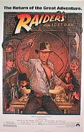 RAIDERS OF THE LOST ARK original reissue rolled 1-sheet movie poster