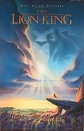 LION KING original issue rolled double sided 1-sheet movie poster