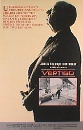 VERTIGO orignal reissue folded 1-sheet movie poster