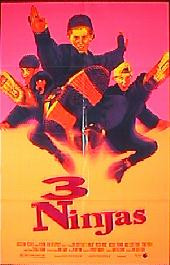 3 NINJAS original issue folded 1-sheet movie poster