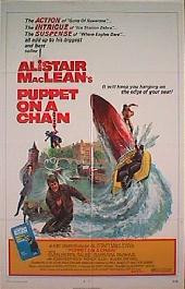 PUPPET ON A CHAIN original issue folded 1-sheet movie poster