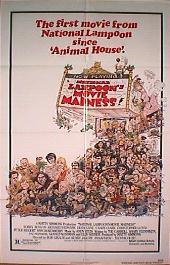 NATIONAL LAMPOON'S MOVIE MADNESS original issue folded 1-sheet movie poster