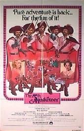 5TH MUSKETEER original issue folded 1-sheet movie poster