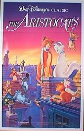 ARISTOCATS, THE original re-issue folded 1-sheet movie poster
