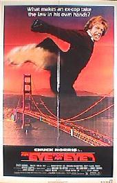 AN EYE FOR AN EYE original issue folded 1-sheet movie poster