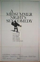A MIDSUMMER NIGHT'S SEX COMEDY original issue folded 1-sheet movie poster