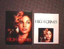 HIGH CRIMES original issue movie CD presskit