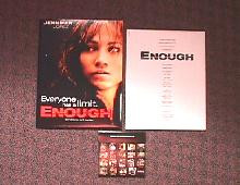 ENOUGH original issue movie CD presskit
