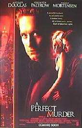 A PERFECT MURDER 1998 original issue rolled double sided 1-sheet movie poster
