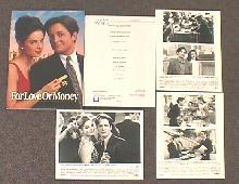 FOR LOVE OR MONEY original issue movie presskit