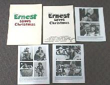 ERNEST SAVES CHRISTMAS original issue movie presskit