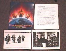 CHRISTOPHER COLUMBUS original issue movie presskit