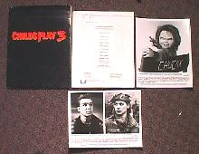 CHILD'S PLAY 3 original issue movie presskit