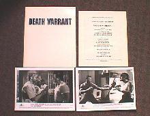 DEATH WARRANT original issue movie presskit