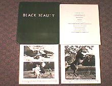BLACK BEAUTY original issue movie presskit