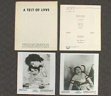 A TEST OF LOVE original issue movie presskit