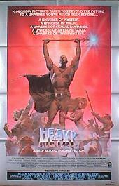 HEAVY METAL original style B folded 1-sheet movie poster