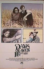 DAYS OF HEAVEN original folded 1-sheet movie poster