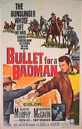 BULLET FOR A BADMAN original folded 1-sheet movie poster