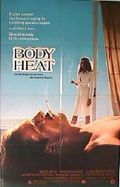 BODY HEAT original folded 1-sheet movie poster
