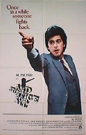 AND JUSTICE FOR ALL Style B original folded 1-sheet movie poster