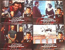 TOMORROW NEVER DIES original issue 11x14 lobby card set