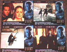 SAINT,THE original issue 11x14 British lobby card set
