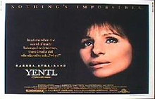 YENTL original issue 22x28 rolled movie poster