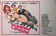 SUNDAY LOVERS original issue 22x28 rolled movie poster