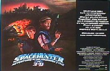 SPACEHUNTER 3-D original issue 22x28 rolled movie poster