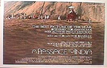 A PASSAGE TO INDIA original issue 22x28 rolled movie poster