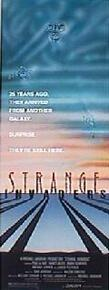 STRANGE INVADERS original issue 14x36 rolled movie poster
