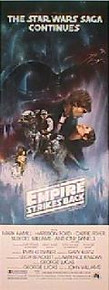 EMPIRE STRIKES BACK original issue Style A 14x36 movie poster