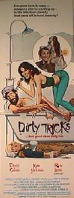 DIRTY TRICKS original issue 14x36 movie poster