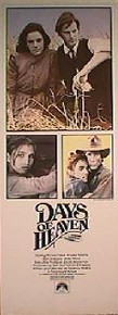 DAYS OF HEAVEN original issue 14x36 movie poster