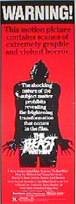BEAST WITHIN, THE original issue 14x36 movie poster