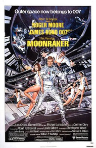 MOONRAKER original 1979 folded 1-sheet movie poster