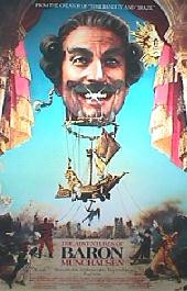 ADVENTURES OF BARON MUNCHAUSEN original issue rolled Regular 1-sheet movie poster