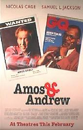 AMOS & ANDREW original issue rolled double sided 1-sheet movie poster