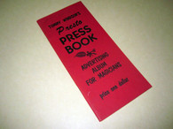 Windsor, Tommy - Presto Press Book - Advertising Album for Magicians