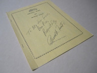 Furst, Arnold - Lecture Notes of Arnold Furst (AUTOGRAPHED)