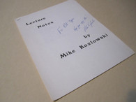 Kozlowski, Mike - Lecture Notes (INSCRIBED)