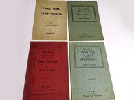 Gibson, Walter - 4 volumes - Practical Card Tricks series (Out of Print, 1st Editions)