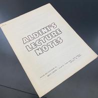 Aldini (Alex Weiner)- Aldini's Lecture Notes (1973)