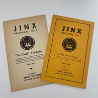 Annemann - Jinx Program No. 1 and No. 5 (2 volumes)