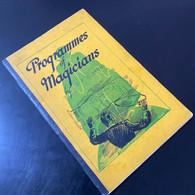 Burrows, J. F. - Programmes of Magicians (Davenports, TDC)