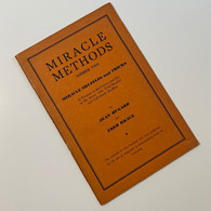 Hugard, Jean & Braue, Fred - Miracle Methods #2, Miracle Shuffles & Tricks (1942)